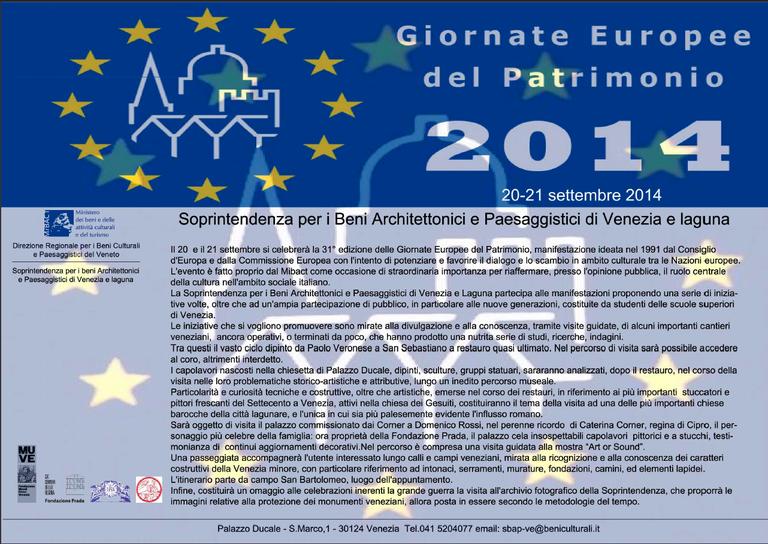 Depliant Giornate Europee del Patrimonio 2014 pg1