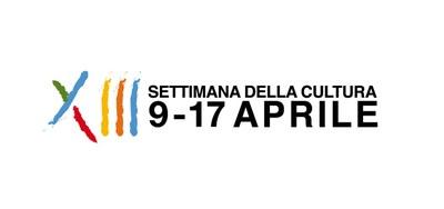 logo della tredicesima settimana della cultura, dal nove al diciasette aprile