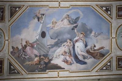Ca' Corner della Regina - Primo piano nobile - Soffitto affrescato di G. Scajario