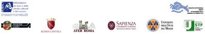 Loghi delle diverse istituzioni che promuovono l'iniziativa Corviale 2020