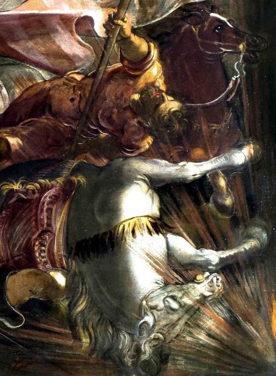 J. Tintoretto, La cattura di San Rocco - partcolare