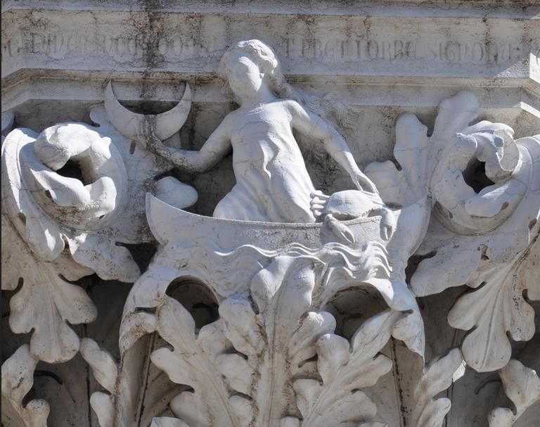 Capitello di Palazzo Ducale i Pianeti ..la Luna