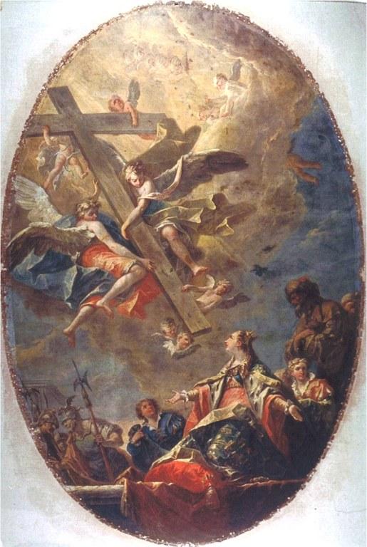 S.Elena in adorazione della croce dopo il restauro