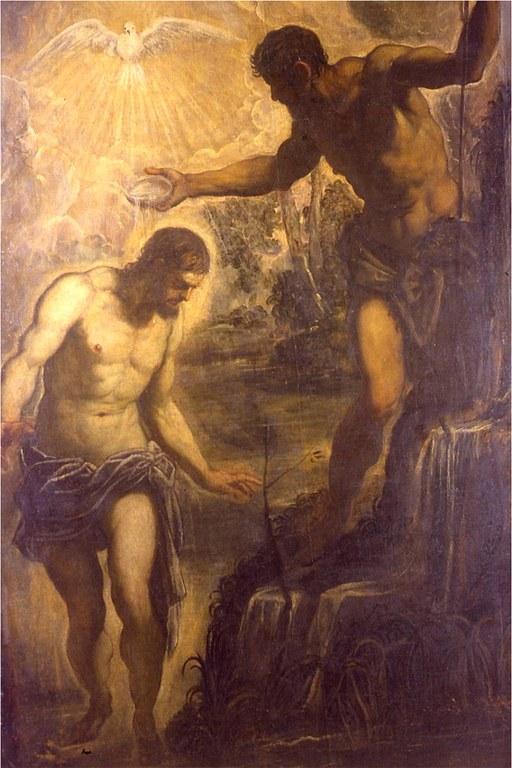 Battesimo di Cristo prima dell'intervento