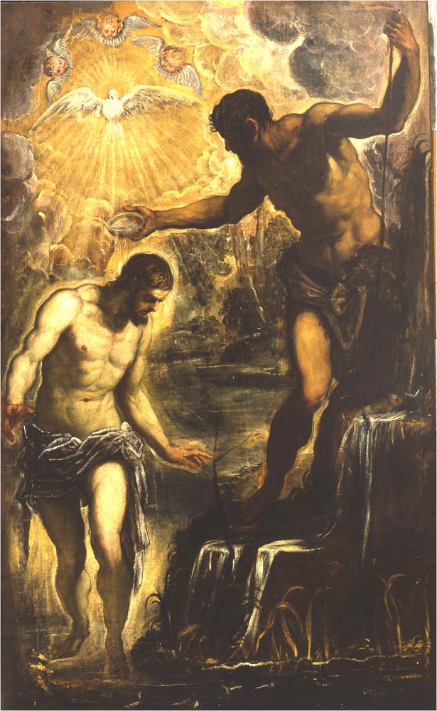 Battesimo di Cristo dopo l'intervento