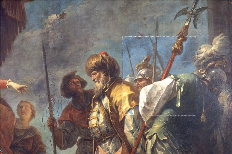 L'Ebreo Giuda davanti a S.Elena durante il restauro (particolare)