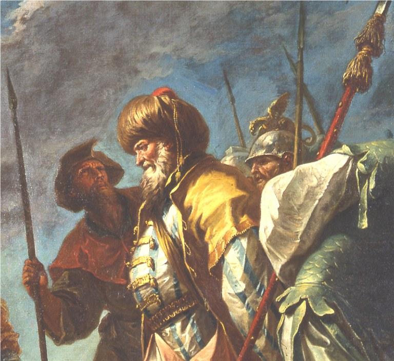 L'Ebreo Giuda davanti a S.Elena dopo il restauro (particolare)