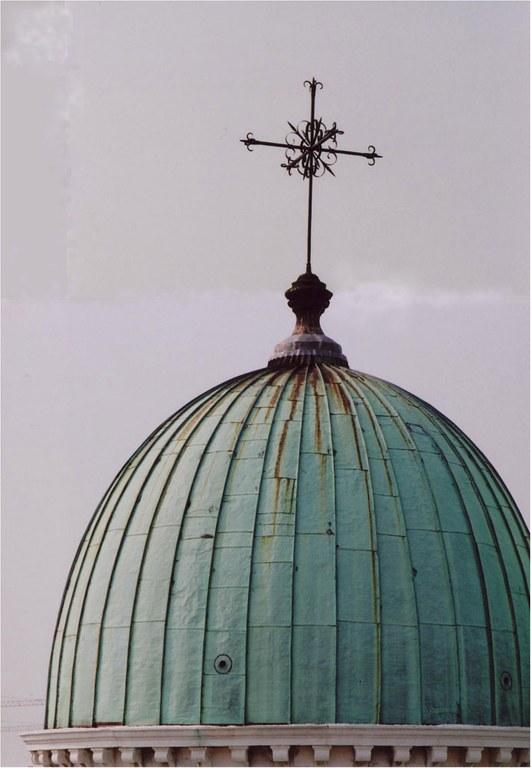 Veduta della cupola a termine dell'intervento - dettaglio