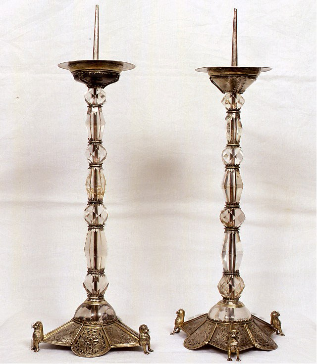 I candelieri a restauro ultimato