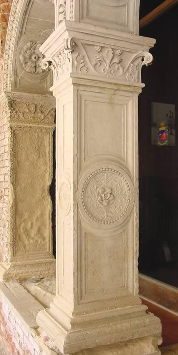 L'ingresso della sala del capitolo dopo il restauro