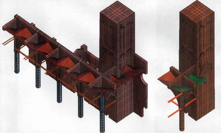 modello grafico tridimensionale strutturale