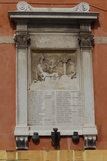 Chiesa dei Santi Apostoli, lapide commemorativa