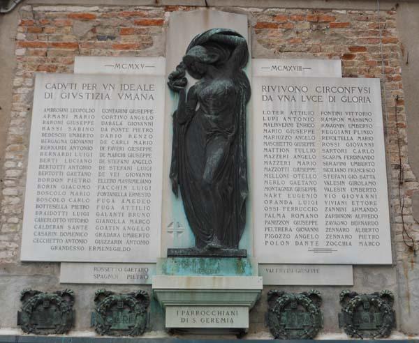 Salizada San Geremia, lapide commemorativa
