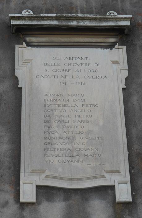 Fondamenta San Giobbe, lapide commemorativa