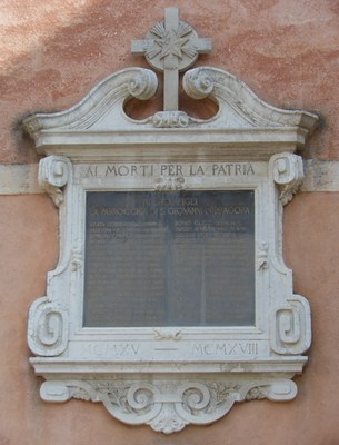 Scoletta di San Giovanni Battista in Bragora, lapide commemorativa