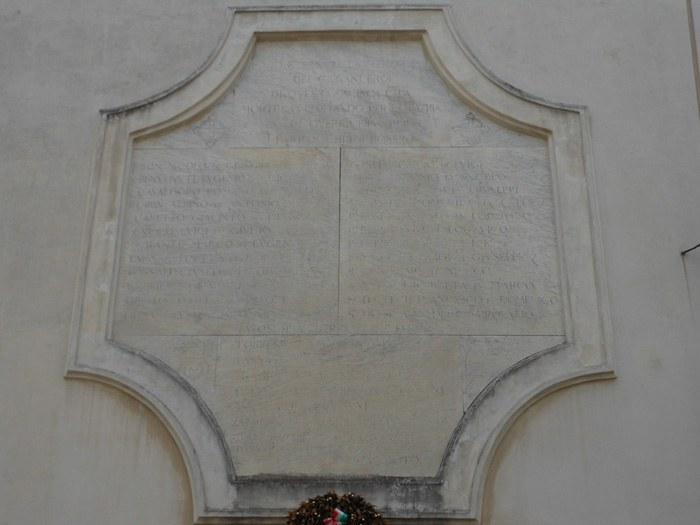 1. Chiesa dell'Angelo Raffaele, lapide commemorativa