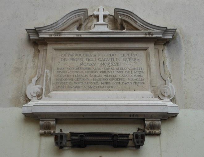 Chiesa di Santa Maria del Giglio, lapide commemorativa
