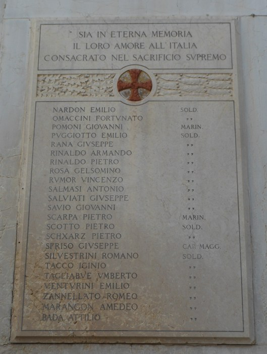 Chiesa di San Simeone Profeta, lapide commemorativa, 2